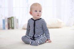 Long Sleeve Cotton Body Baby Girl Clothes Black Stripped Autumn Baby Romper Clothing multicolor 4-6m
