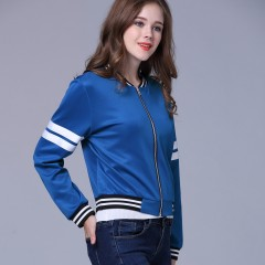 Autumn Fashion Women Sport Jacket Outerwear Coat blue S