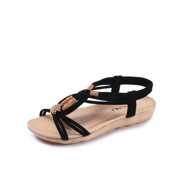 061fb3d6b4fbba Fashion Women Sandals Summer Gladiator Shoes Ladies Bohemia Shoes Woman  Comfort Beach Shoes Flat Sandals
