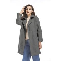 Autumn Winter Long Style Large Size Coat Cashmere Long Sleeve Women's Clothing