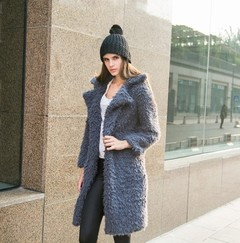 Autumn Winter Women's Coat Lamb Wool Long Sleeve Jacket Lapel Furry Long  Overcoat