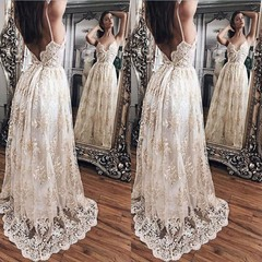 Elegant Lace Long Dress Sexy Maxi  Evening Party Dresses