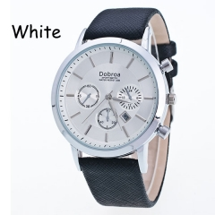 Sharer Business Casual Men Table Function Waterproof Single Calendar Leather Casual Table White One Size