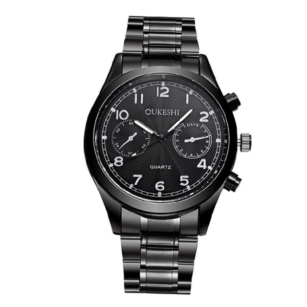 Fashion High Performance Waterproof Calendar Men's Watches, High Quality Steel Alloy Watch One Color One Size