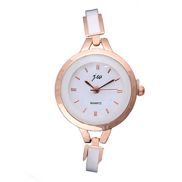 Europe And The United States Ladies Fashion Watch With Metal Silicone Watch Gold