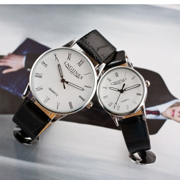 Waterproof Belt Couple Table Student Watch Needle Buckle Casual Men And Women Table White Men White Men One Size