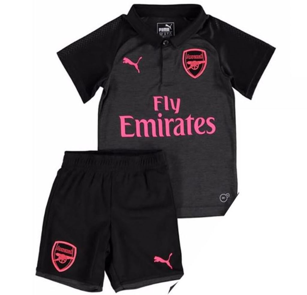 finest selection c0631 0ce21 Arsenal Kids Football Shirt Jersey Short Kit 2017/18 (REPLICA) 3rd Kit  Small (5-6 yrs) S-20