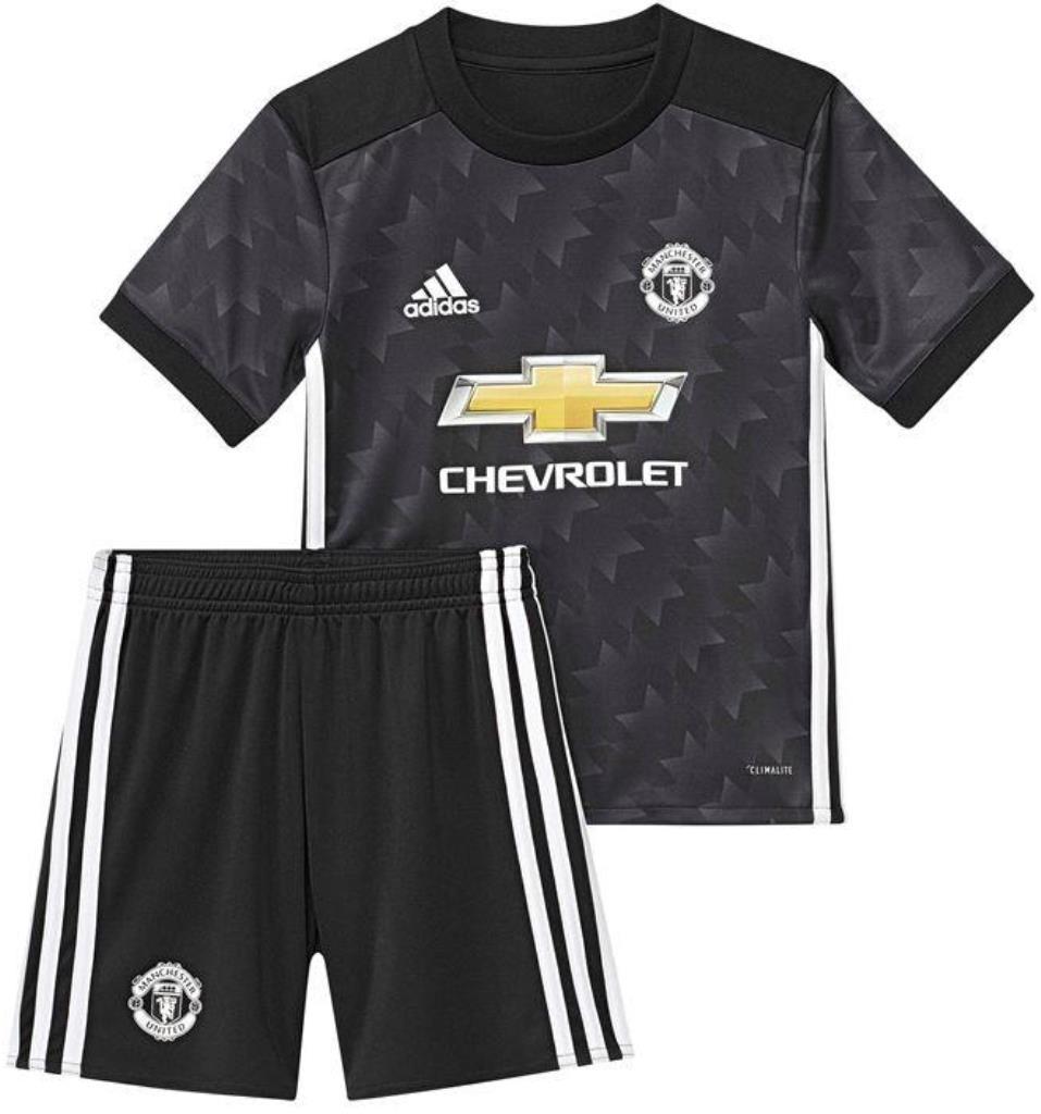 sale retailer c9584 5bce8 Kids New Manchester United REPLICA Jersey Shirt Short Kit 2017/18  Away/Black Medium (7-8 years)