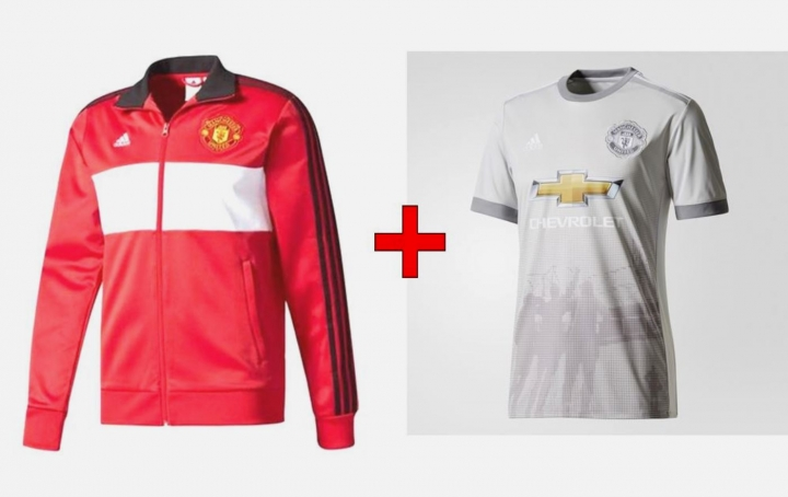 6e85b92d6 The New REPLICA Manchester United Football Club 2017 18 Top Track Jacket   3rd  Kit