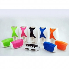 Automatic Toothpaste Dispenser Toothbrush Holder Multicolour 2 Pieces