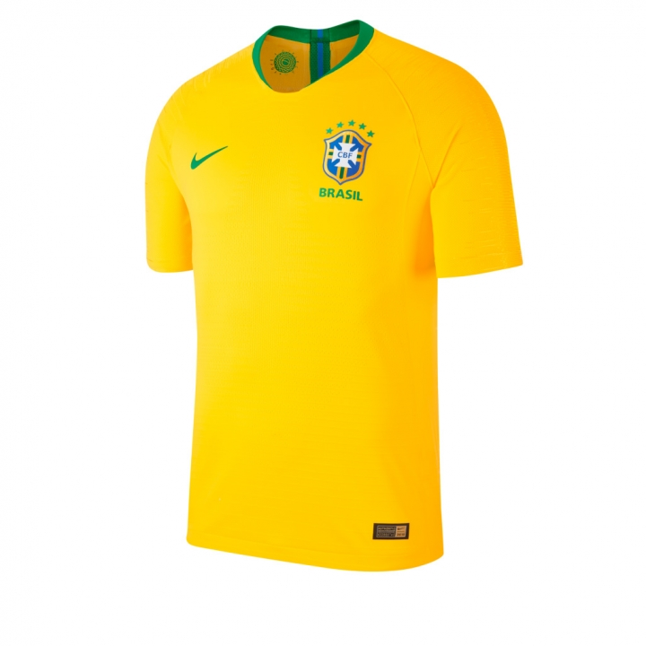 886039cce The New Brazil 2018 Home World Cup 2018 Replica Football Jersey Shirt  Yellow Small Polyester