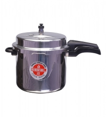 High Quality Aluminum Pressure Cooker Outer Lid Thick Base Silver 5 Litres