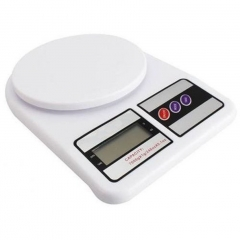 Electronic Precision Digital Weighing Food Kitchen Scale White 1 Piece