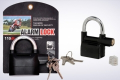 Automatic Tamperproof Security Anti-Theft Alarm Padlock Black Large