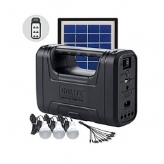 GDLITE GD-8006A Portable Travel Solar Lighting/Charging System Black N/A 240V