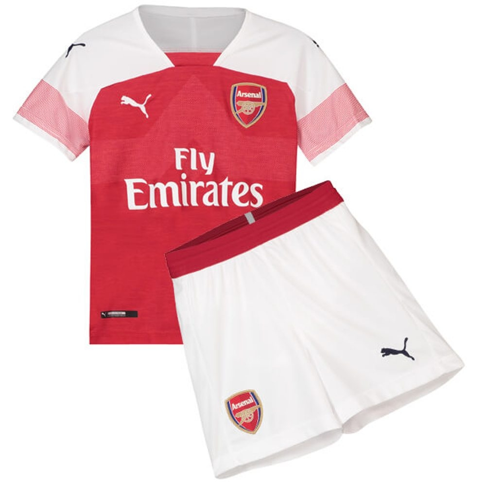 58cbd8b91 The New 2018-2019 Kids/Children Arsenal Home Kit REPLICA Football ...