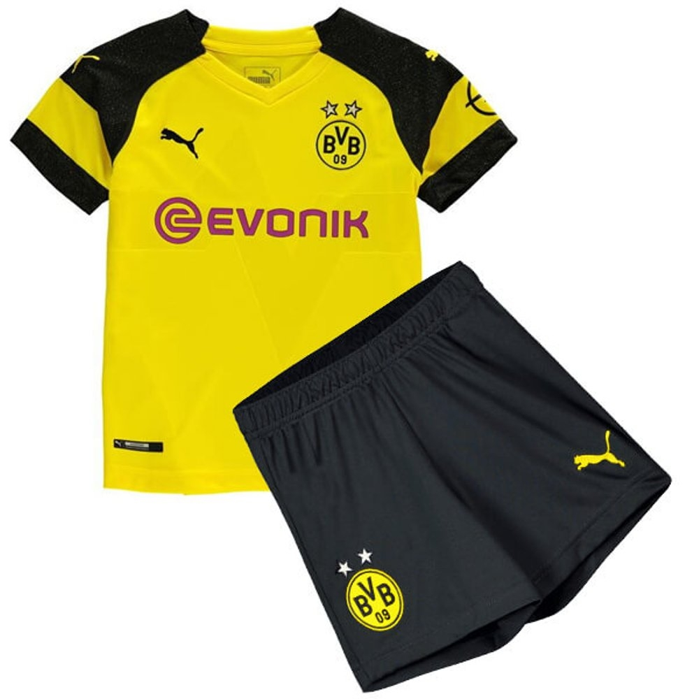sports shoes afb02 9383a The New 2018-2019 Kids/Children Borussia Dortmund Home Kit REPLICA Football  Jersey & Short Home #16 (2 years) Polyester