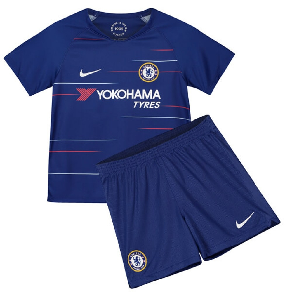 new style 3a1cb 98b61 The New 2018-2019 Kids/Children Chelsea Home Kit REPLICA Football Jersey &  Short Home #18 (4-5 years) Polyester