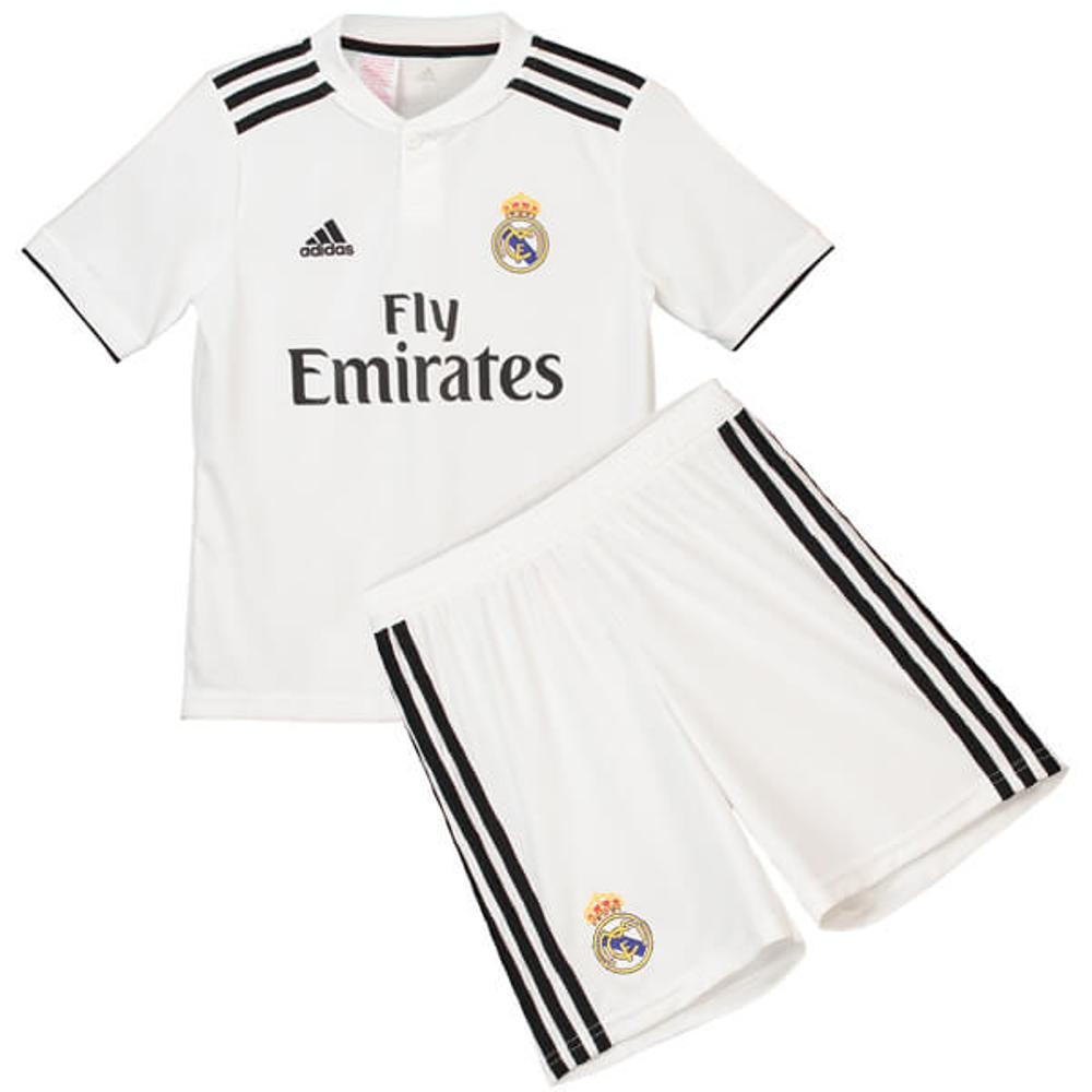 The New 2018 2019 KidsChildren Real Madrid Home Kit REPLICA Football Jersey & Short Home #24 (10 11 years) Polyester