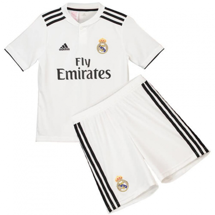 d44a4d809f2 The New 2018-2019 Kids Children Real Madrid Home Kit REPLICA Football Jersey