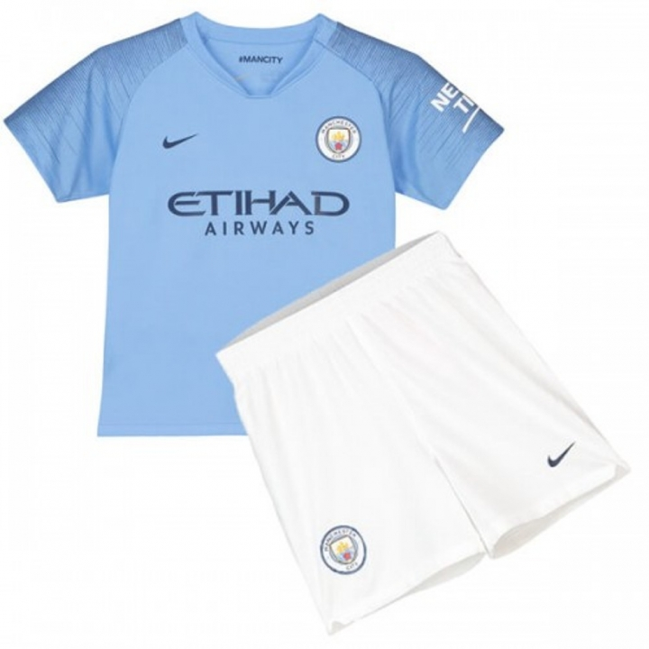 timeless design 62889 1fef6 The New 2018-2019 Kids/Children Man City Home Kit REPLICA Football Jersey &  Short Home #24 (10-11 years) Polyester