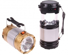 Portable Travel Rechargeable Solar Zoom Outdoor Indoor Camping Lamp Flashlight