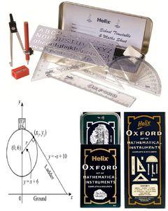 Oxford School Mathematical Geometrical Set Silver/Blue N/A