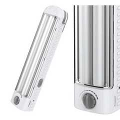 Portable Lighting Rechargeable Flashlight Emergency Light White 43cm 7.2W. 2 side 14.4W