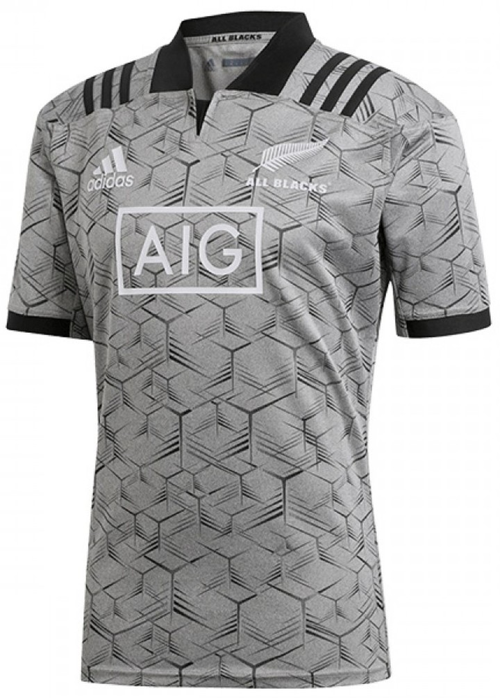 huge selection of df09d ae0c2 New Zealand All Blacks 2018 Replica Training Jersey XL Grey/Black
