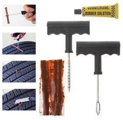 6 Pcs Auto Car Bike Tubeless Tire Tyre Puncture Plug Safety Repair Tool Kit