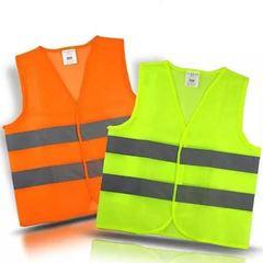 Safety Reflective Fluorescent Reflector Jacket - 1 Piece Multicolour