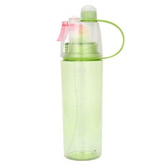 Outdoor Beach Gym Cycling Sport Mist Spray Water Drinking Bottle - 1 Pc Green 600ml