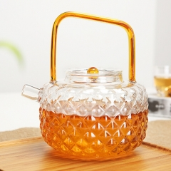 coffeemaker flagon wine pot Take the teapot Flower Tea The red tea pot 700ML yellow coloured glaz 700ml