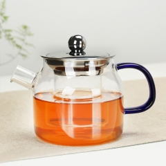 Glass coffee pot teapot flagon wine pot Flower Tea Water jug 500ml purple coloured glaz 500ml