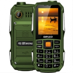 Africa Hot sale Fashion Feature Phones Cheap and affordable Big battery 6800mAh dual sim phone green