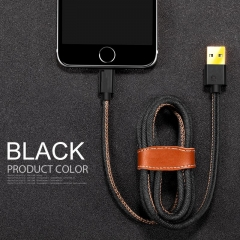 IPhone Android Type-c 1.2M USB Cable Charger USB data Cable Adapter Phone Black for iphone