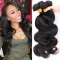 DIy wigs 7A Grade Hair brazilian virgin body wave human hair 100g/pc Natural Black Color BLACK 22IN