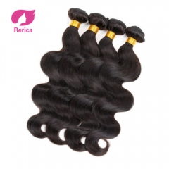 Indian Body Wave Hair Extensions 100% Human Hair Weave 1 Piece  Natural Color Non Remy black 8in