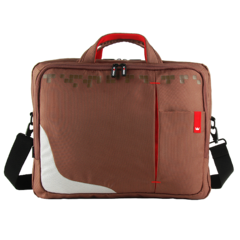 CROWN LAPTOP CARRIER CASE GENUINE SIZE: 15.6 (Brown) (CCG4415BN) Brown
