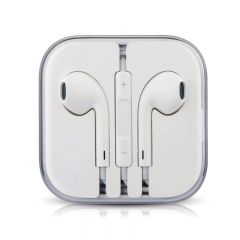 In-Ear Earphone Wired Headphones With Microphone and Volume Control Sport Headphones white