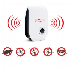 Electronic Ultrasonic Pest Repeller Non-Toxic Safe Mosquito Killer Anti Mosquito Reject Repeller White EU Plug