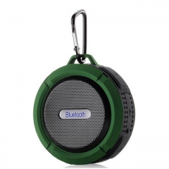 Wireless Portable Bluetooth Speaker Waterproof Outdoor Subwoofer Mini Speakers Support TF Card green C6