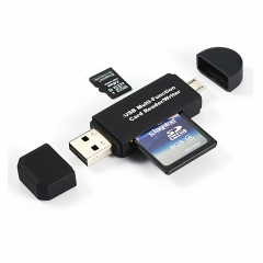 OTG/USB MutiFunction Card Reader/Writer For PC Andriod mobile  Micro USB(type B) SD/MMC Micro SD/TF black OTG Smart High Speed