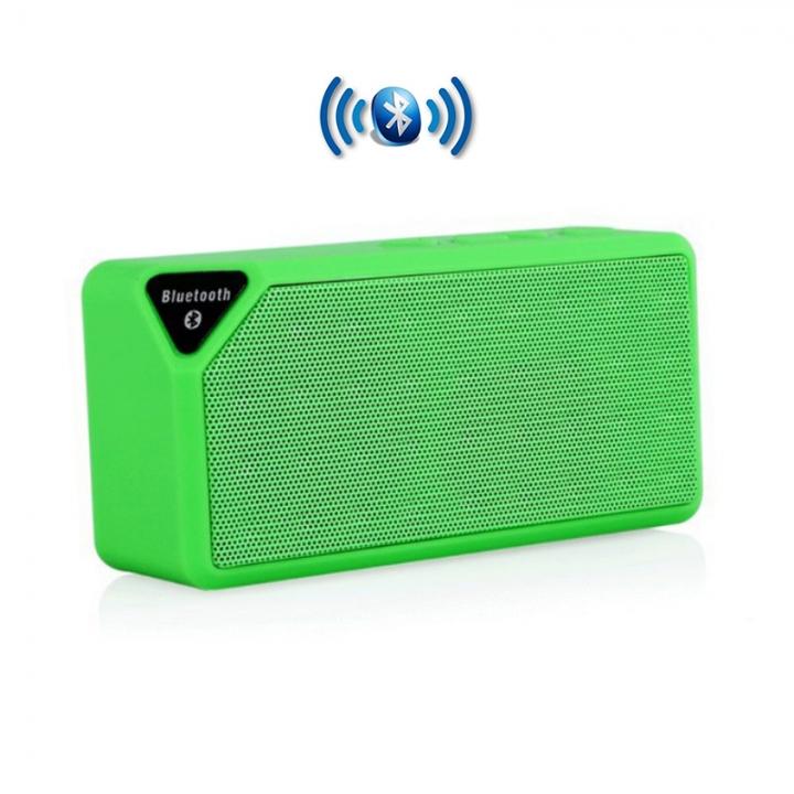Mini Bluetooth Speaker Wireless Subwoofers Portable Music Sound Music Sound Box Bluetooth Woofers green X3