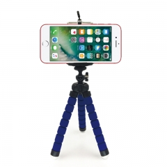 Smartphone Stand Holder Mount Phone Holder Phone Stand CameraTripod And Mobile Phone Clip  Octopus blue normal