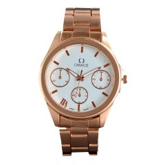 Fashion Men Stainless Steel Quartz Watch Men's Wristwatches Business Waterproof Noctilucent Watches Gold 41MM