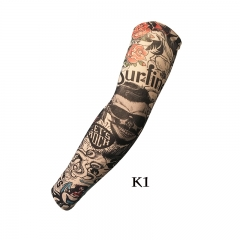 Unisex Nylon Elastic Temporary Tattoo Sleeve Designs Body Arm Stockings Tatoo Cool  Sunscreen 1Pcs unisex K1