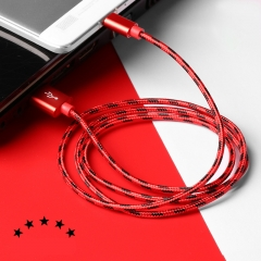 Fast Charge USB Data Cable for Infinix Tecno Samsung Xiaomi  Android USB Charging Cord red 1m