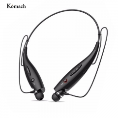 Wireless Bluetooth Headphones Neckband Sport Stereo Headset Bass Earphone for Mobile Phone black