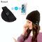 Bluetooth Hat with Soft and Smart  Microphone Wireless Music Headset Headphone Cap for Outdoor Sport Black